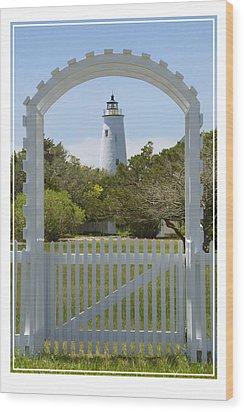 Ocracoke Island Lighthouse Wood Print by Mike McGlothlen