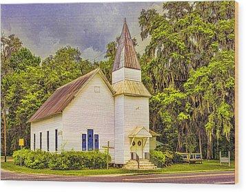 Old Rural Church Wood Print by Lewis Mann