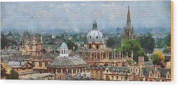 Oxford Panorama Wood Print