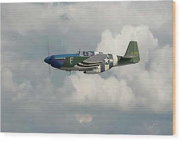 P51 Mustang Gallery - No1 Wood Print by Pat Speirs