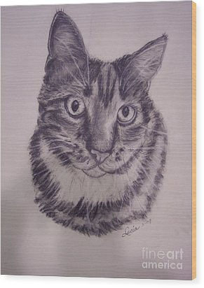 Pet Portraits  Wood Print by Lucia Grilletto