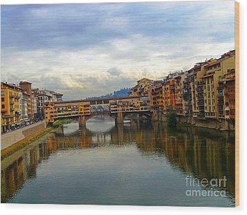 Ponte Vecchio's Padlocks Wood Print