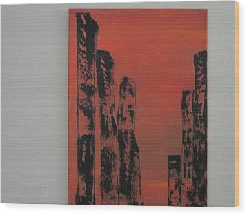 Wood Print featuring the painting  Portals by Sharyn Winters