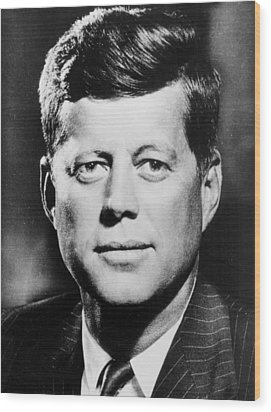 Portrait Of John F. Kennedy  Wood Print by American Photographer