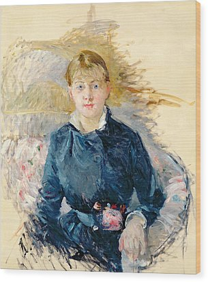 Portrait Of Louise Riesener Wood Print by Berthe Morisot