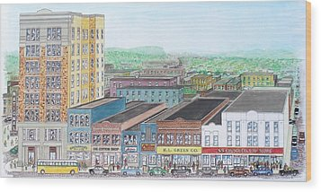 Portsmouth Ohio Dime Store Row 4th To 5th Wood Print