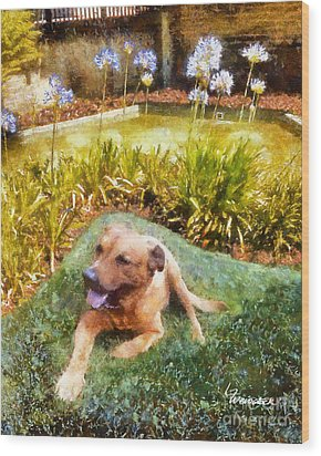 Wood Print featuring the painting Alameda Rufus by Linda Weinstock