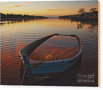 Wood Print featuring the photograph  Ripples by Trena Mara