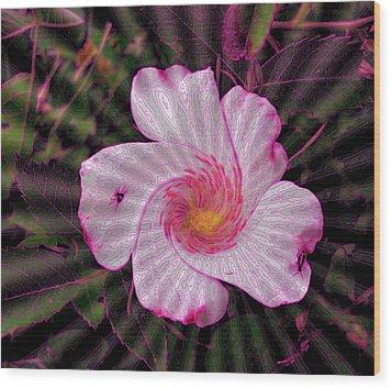 Wood Print featuring the photograph  Rippling Pink by Yolanda Raker