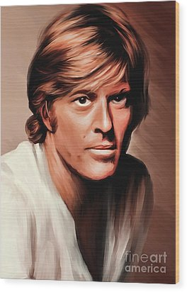 Robert Redford Wood Print