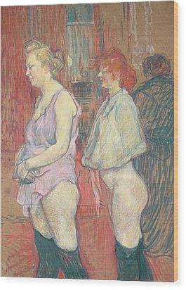 Rue Des Moulins Wood Print by Henri de Toulouse-Lautrec