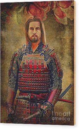 Samurai Wood Print by Andrzej Szczerski
