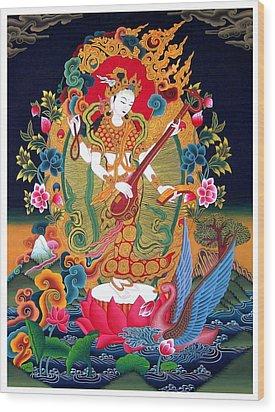 Saraswati 3 Wood Print