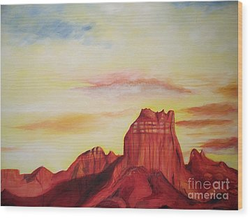 Wood Print featuring the painting  Sedona Az by Eric  Schiabor