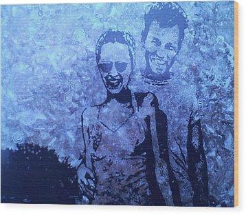 Selfie Wood Print by Lew Griffin