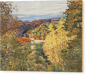 September In Bordeaux Wood Print by David Lloyd Glover