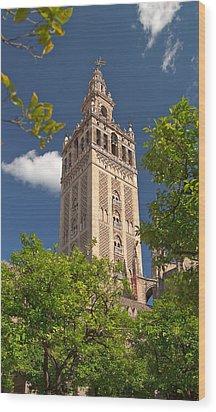 Seville Cathedral Belltower Wood Print by Viacheslav Savitskiy