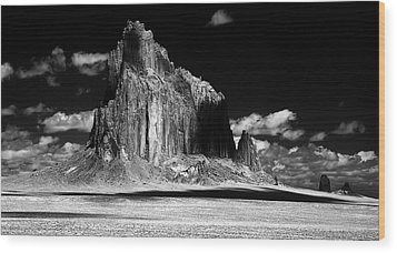 Shiprock East Face Wood Print