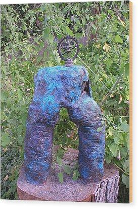 Shiva Shakti Yoga Sculpture Wood Print by Terri Ana Stokes