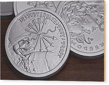 Silver Bullion Debt And Death Wood Print by Tom Mc Nemar