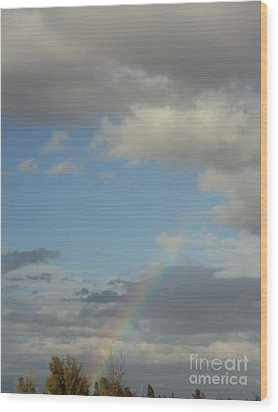 Skys The Limit Wood Print by Carla Carson