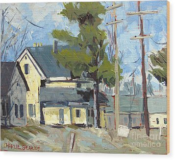 Sold Wabash Indiana Home Wood Print by Charlie Spear