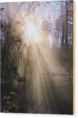 Windows Of Faith Wood Print