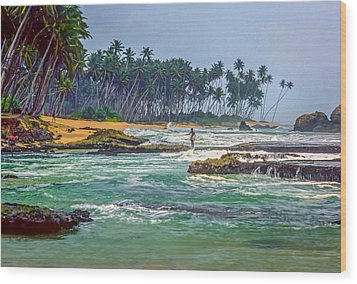 Sri Lanka Wood Print by Steve Harrington