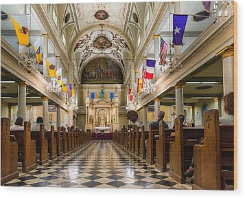 St. Louis Cathedral Wood Print by Steve Harrington