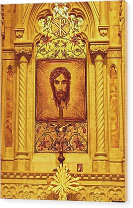 Wood Print featuring the photograph  St. Patrick Nyc  Altar by Joan Reese
