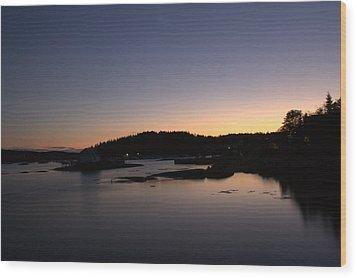 Stonington Sunset Wood Print by Greg DeBeck