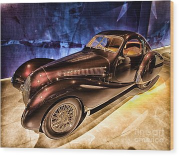 Wood Print featuring the photograph  Talbot Lago 1937 Car Automobile Hdr Vehicle  by Paul Fearn