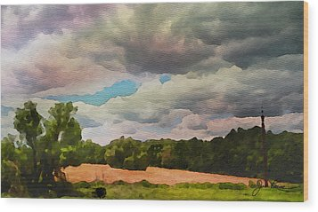 Wood Print featuring the painting  Tennessee Landscape by Joan Reese