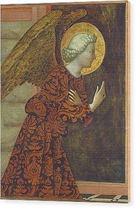 The Archangel Gabriel Wood Print by Tommaso Masolino da Panicale