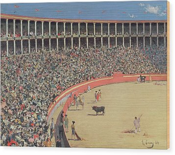 The Bullfight Wood Print by Ramon Casas i Carbo
