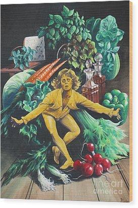 The Dancing Lemon Wood Print