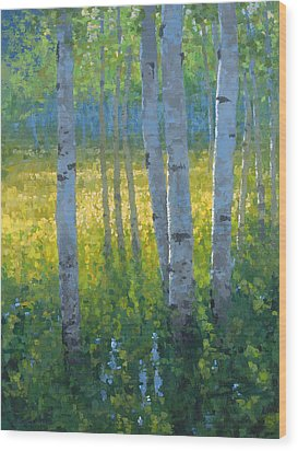 The Dancing Sun Wood Print