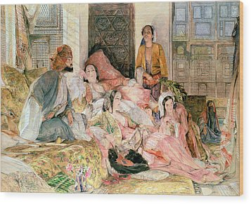 The Harem Wood Print by John Frederick Lewis