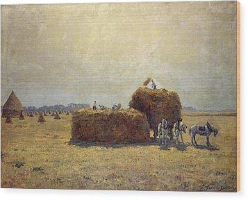 The Harvest Wood Print by Pierre-Georges Dieterle