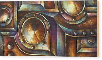 ' The Keep ' Wood Print by Michael Lang