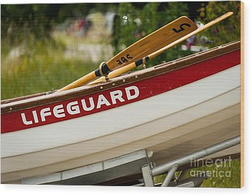 The Lifeguard Boat Wood Print