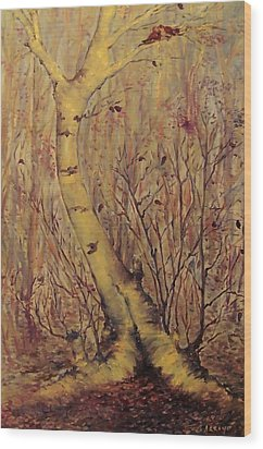 The  Loving  Tree Wood Print