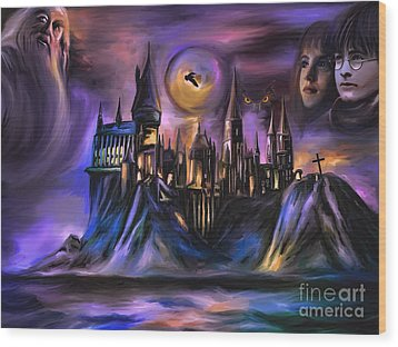 The Magic Castle I. Wood Print by Andrzej Szczerski