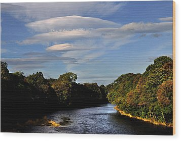The River Beauly Wood Print