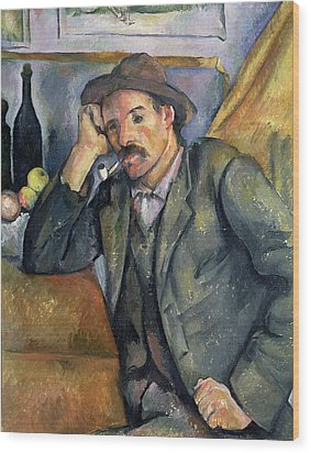 The Smoker Wood Print by Paul Cezanne