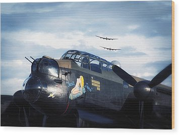 Three Lancasters Wood Print