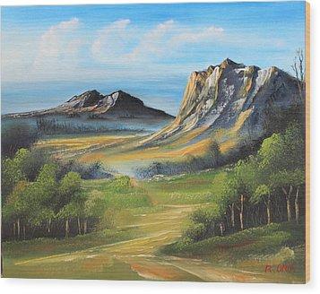 Twin Peaks Wood Print by Remegio Onia