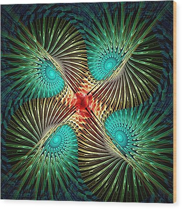 Visual Perception Wood Print by Anastasiya Malakhova