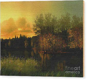 Warm Waters Wood Print by Robert Foster