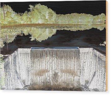 Waterfall 1 Wood Print by Dietrich ralph  Katz